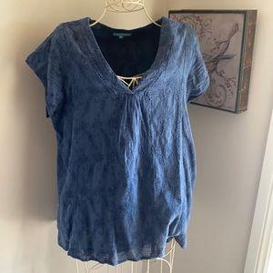 Blue Illusion cotton top - 2L